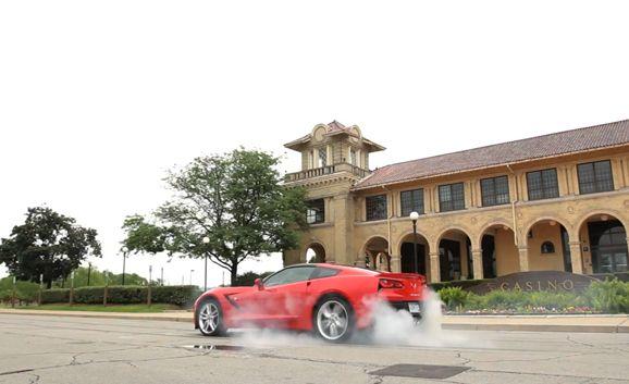 2014 Chevrolet Corvette Stingray Z51 First Burnout