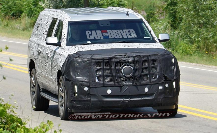 2015 Cadillac Escalade ESV (spy photo) - Slide 1