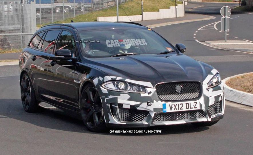 2015 Jaguar XFR-S Sportbrake (spy photo) - Slide 1