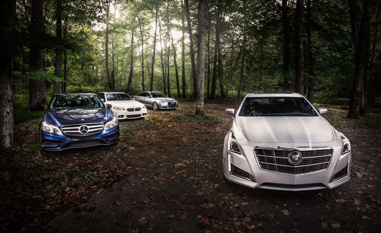 2014 Cadillac CTS 3.6 vs. Audi A6, BMW 535i, Mercedes E350 Comparison Test | Review