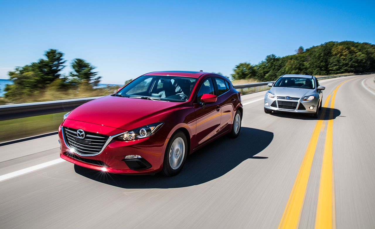 2014 mazda 3 vs 2014 ford focus comparison test review car and driver