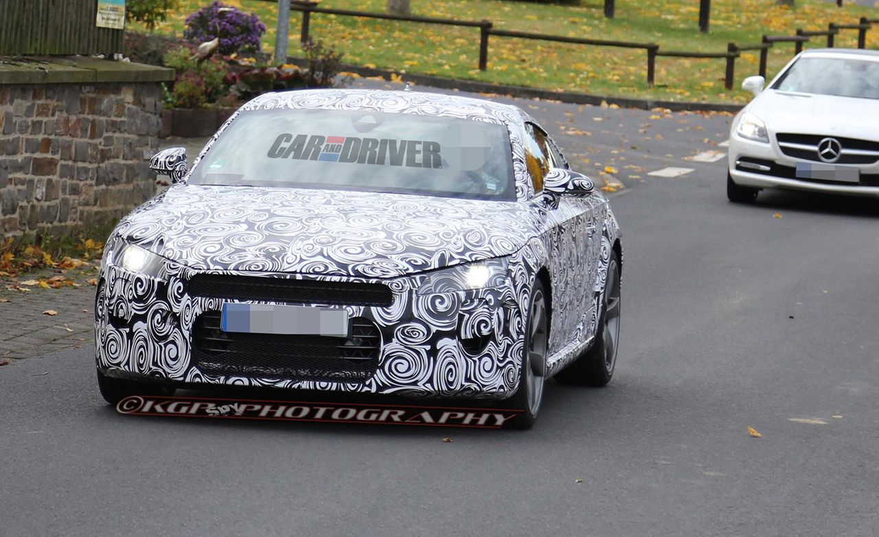 2015 audi tt spy photos – news – car and driver