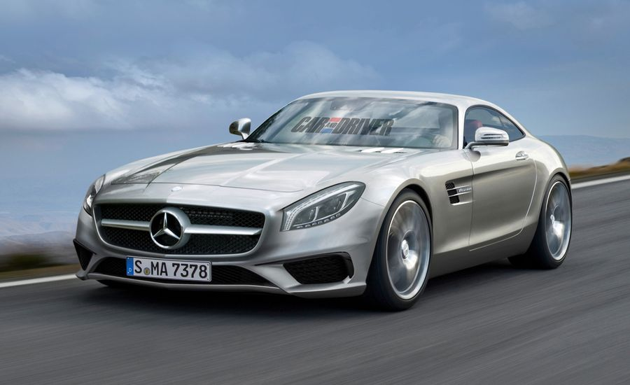 2016 Mercedes-Benz GT AMG Rendered and Detailed
