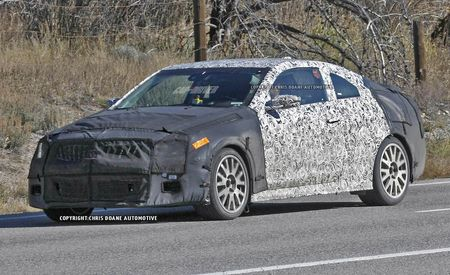 2015 Cadillac ATS-V Coupe Spy Photos: Muscular Bodywork, Quad Exhaust Outlets—Yep, It's a V