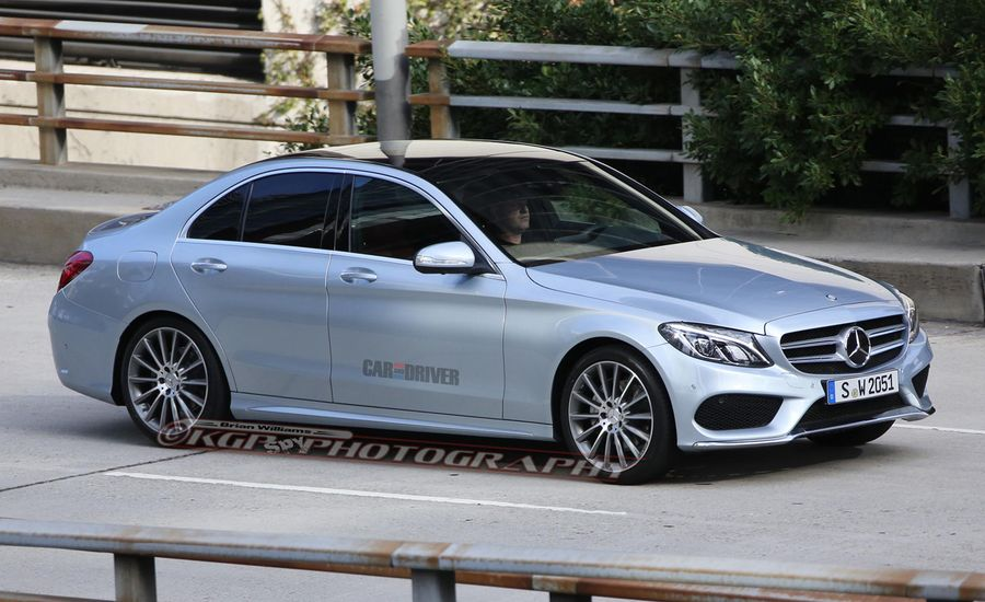 2015 Mercedes-Benz C-class Spy Photos: Merc's New Sedan C-een Sans Camo