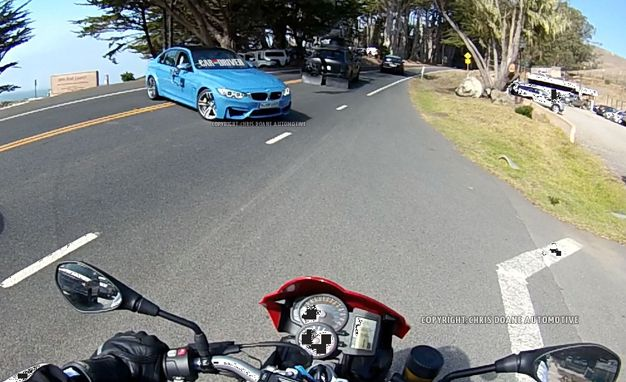 Undisguised 2015 BMW M3 Sedan Captured on Video by Lucky Motorcyclist