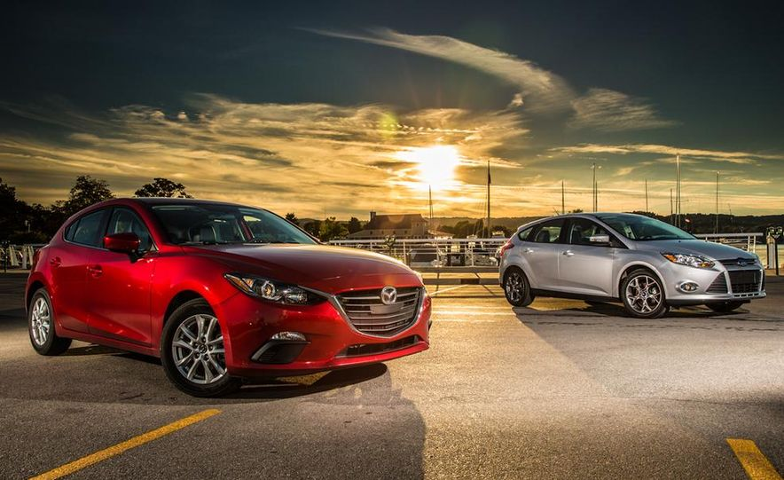 2014 Ford Focus SE and 2014 Mazda 3 i Grand Touring - Slide 3