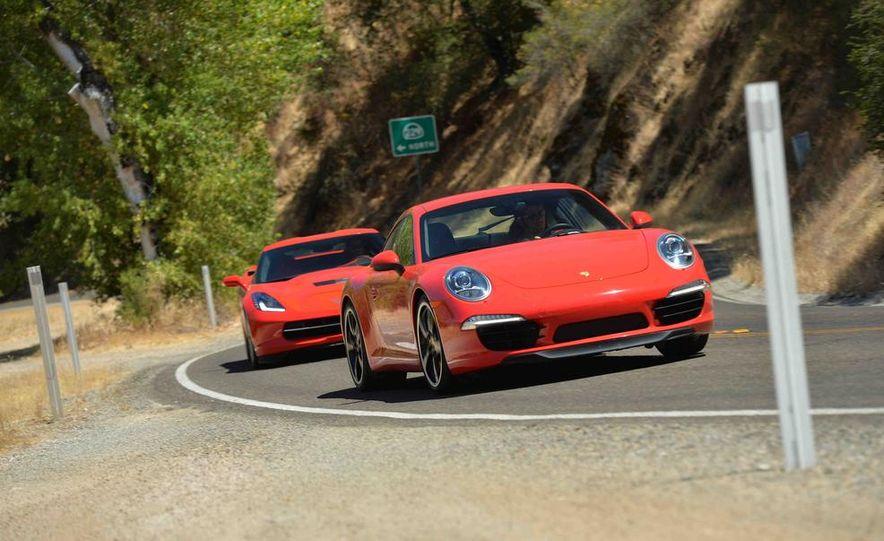 2014 Chevrolet Corvette Stingray and 2014 Porsche 911 Carrera S - Slide 3