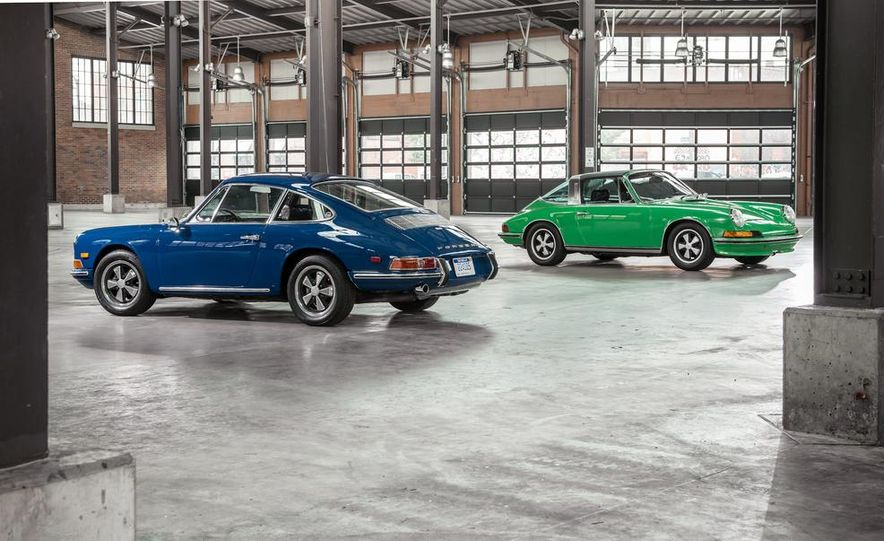 1968 Porsche 911 and 1973 Porsche 911E Targa - Slide 1