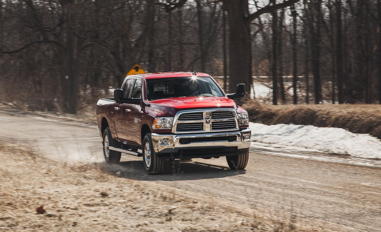 2014 Ram 2500 Hd Crew Cab 4x4 Hemi Test Review Car And Driver 2004 Ford F 250 Super Duty Horn