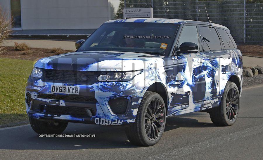 2015 Land Rover Range Rover Sport SVR Spy Photos