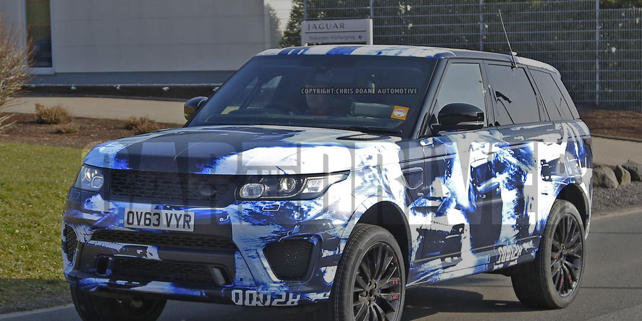 2015 Land Rover Range Rover Sport SVR Spy Photos