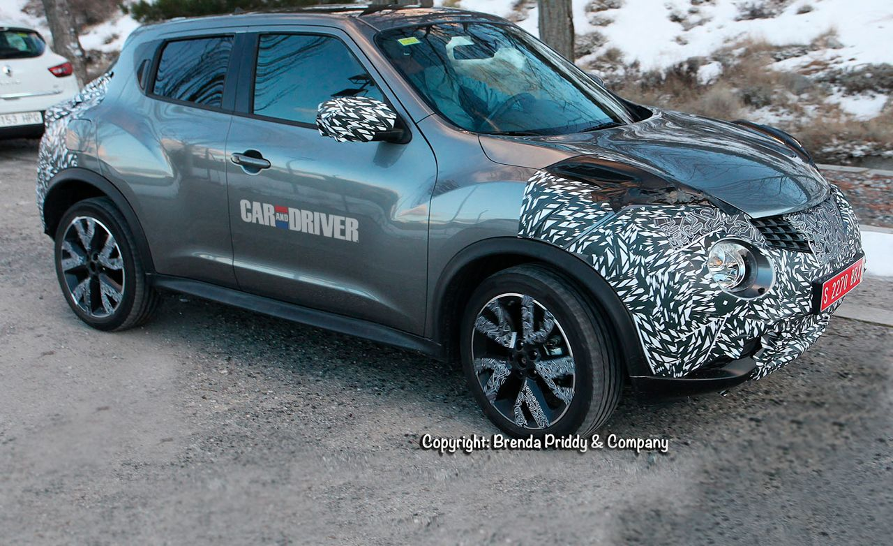2015 nissan juke spy photos news car and driver. Black Bedroom Furniture Sets. Home Design Ideas