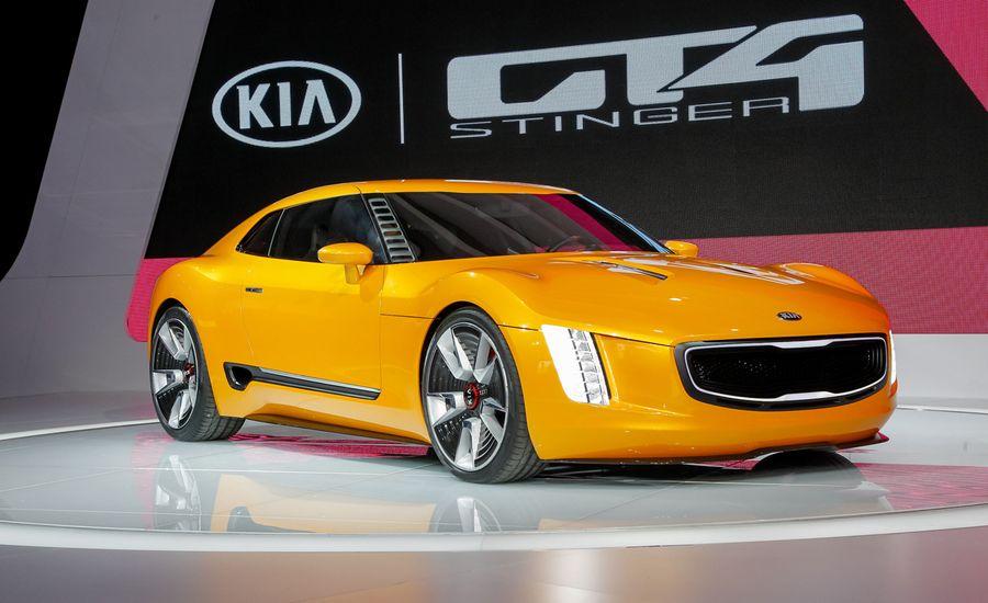 kia gt4 stinger concept photos and info news car and driver. Black Bedroom Furniture Sets. Home Design Ideas