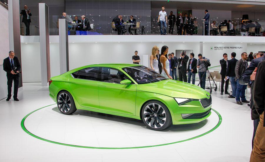 Skoda VisionC Concept: A7 Looks, Golf Bones