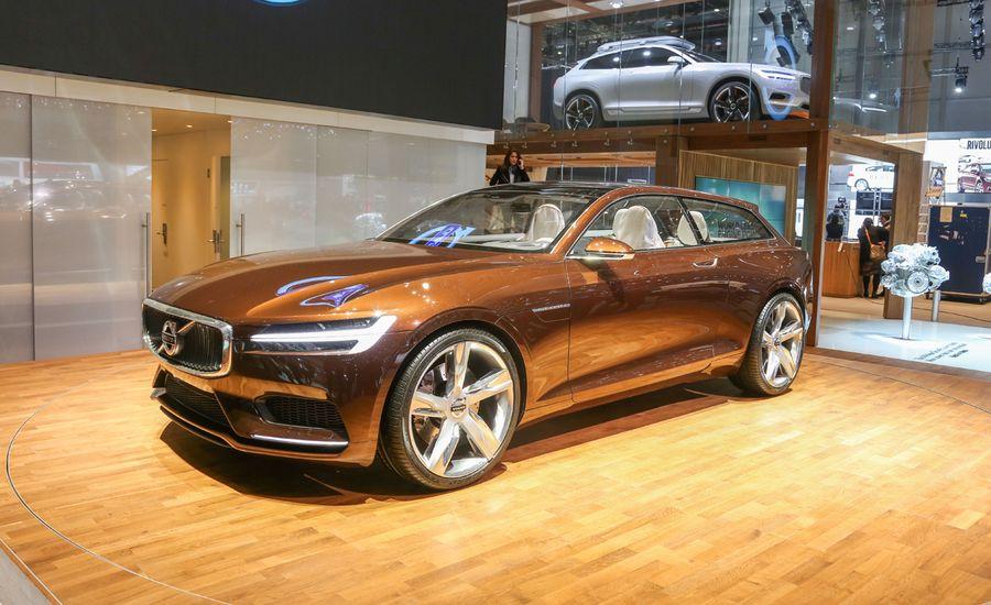 Volvo Concept Estate: A Sexy Brown Shooting Brake—Need We Say More?
