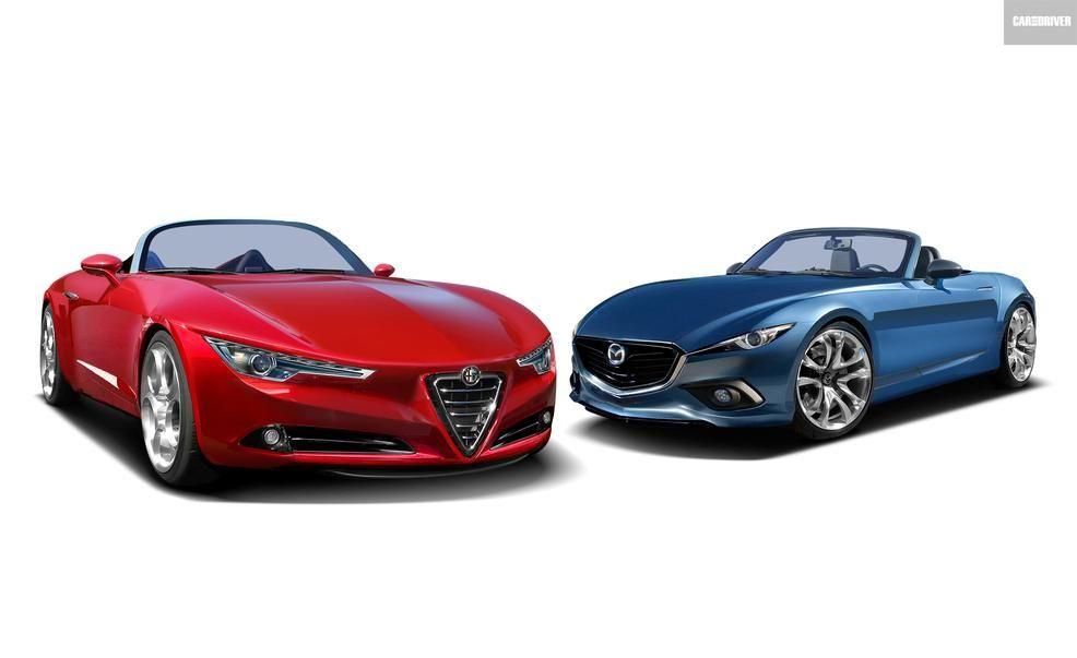 2016 FiatAbarth Spider and Mazda MX5 Miata  Feature  Car and