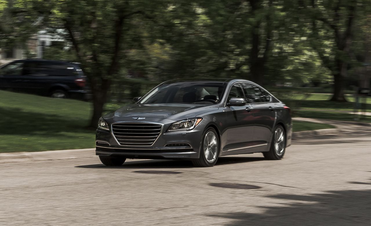2015 hyundai genesis v 6 awd test review car and driver. Black Bedroom Furniture Sets. Home Design Ideas