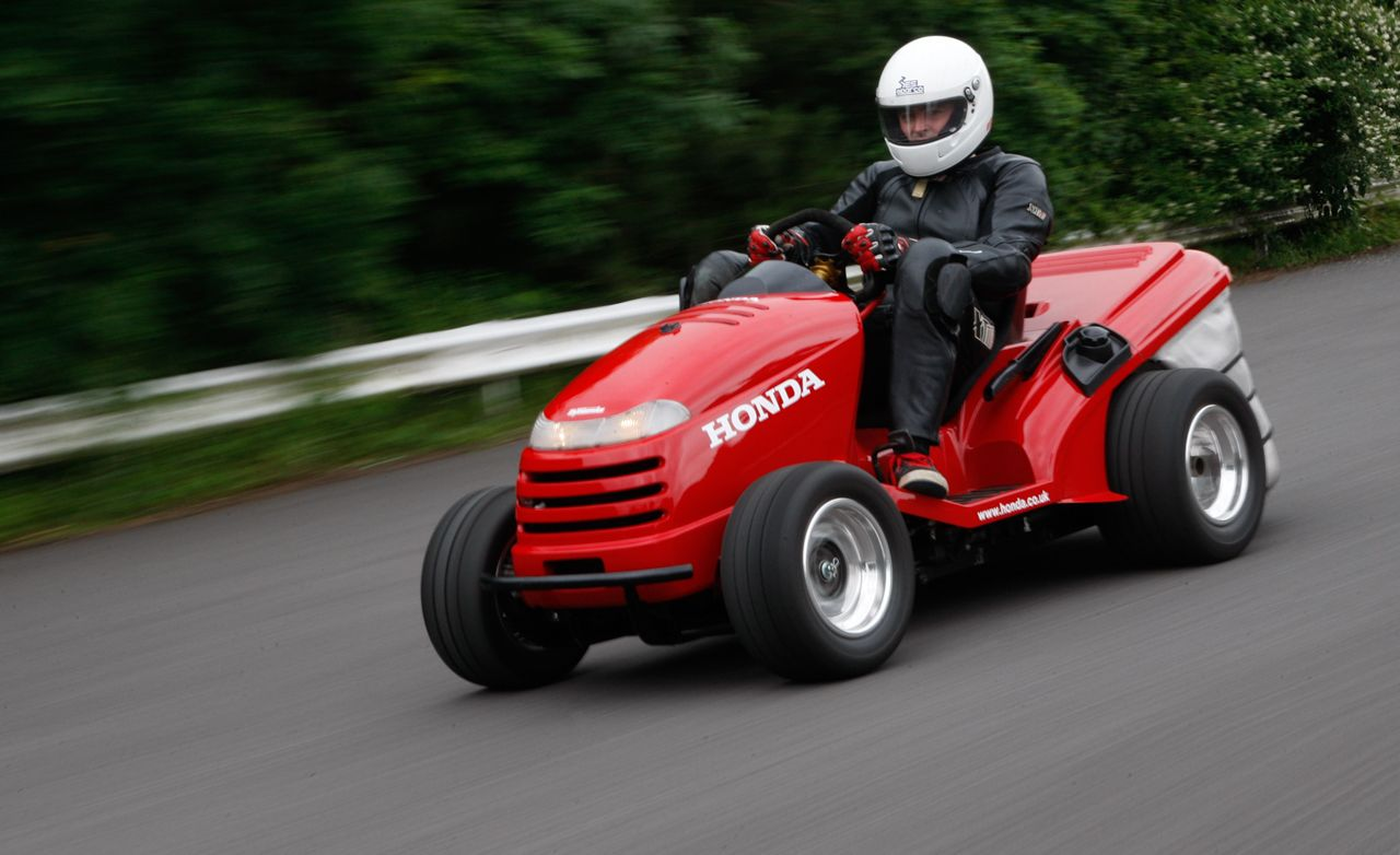 Honda Mean Mower Ridden: Yes, a 130-mph Lawn Tractor ...