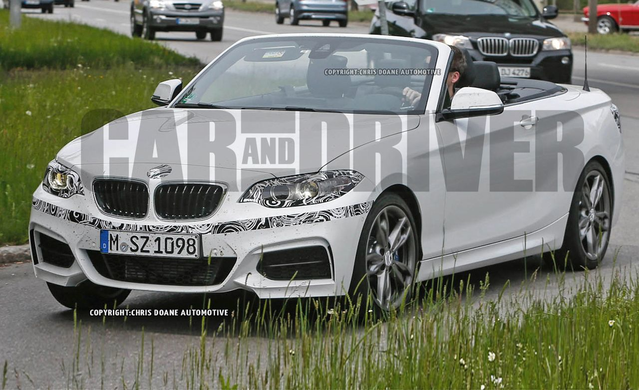 2015 BMW 2-series / M235i Convertible Spy Photos: Small, Sporty Rooflessness