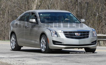 2015 Cadillac ATS Sedan Spy Photos: Aping the ATS Coupe