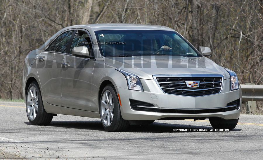 2015 cadillac ats sedan spy photos news car and driver. Black Bedroom Furniture Sets. Home Design Ideas