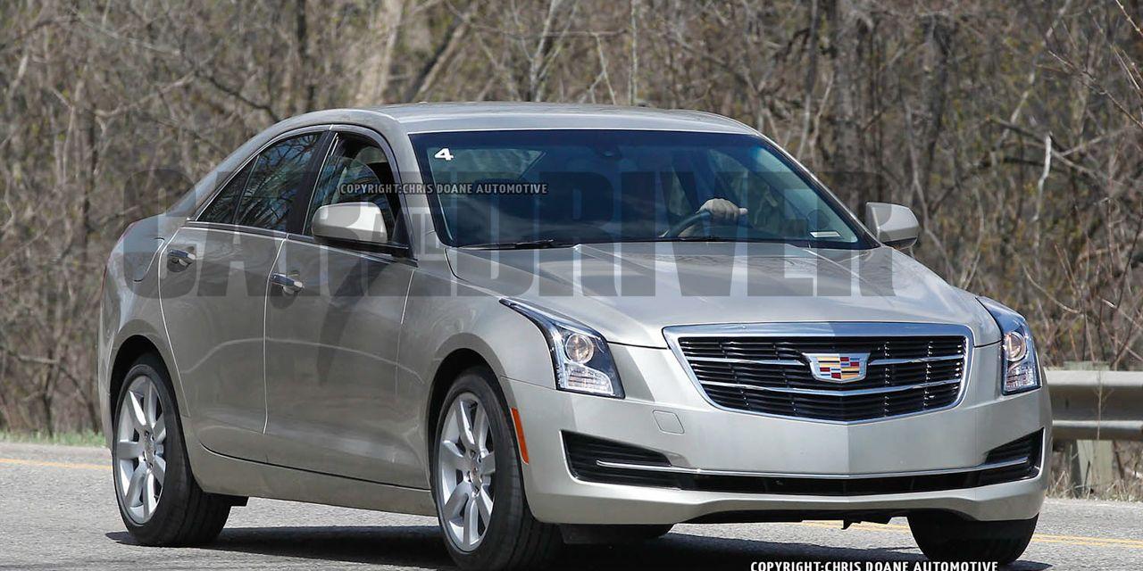 2015 Cadillac ATS Sedan Spy Photos: Aping the ATS Coupe