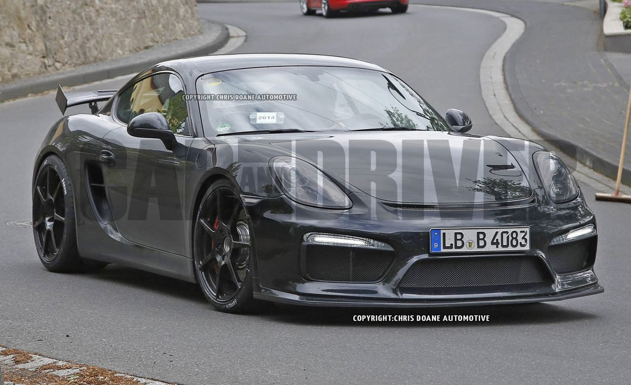 2015 Porsche Cayman GT4 Spy Photos: More Power, Plus Glorious Wings and Things