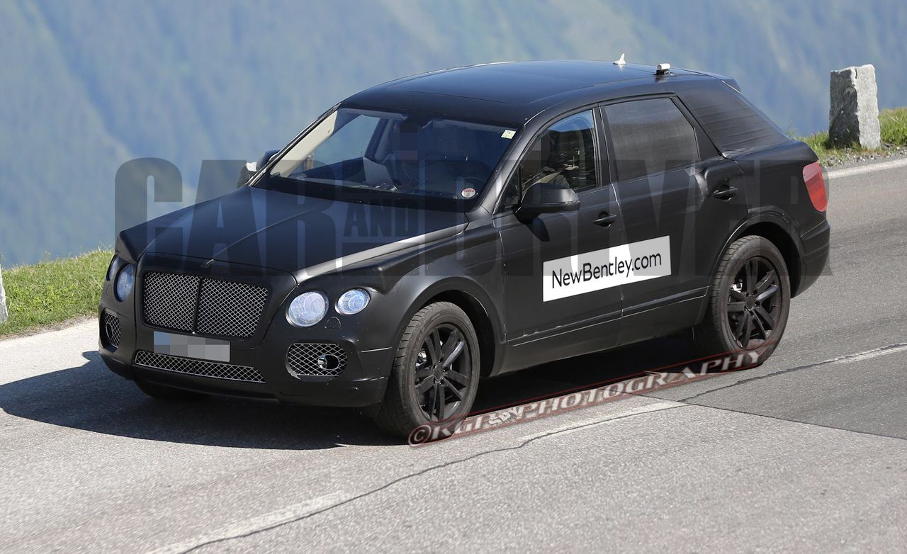 2018 bentley suv. plain suv 2016 bentley suv spy photos do you think they wanted us to see it intended 2018 bentley suv