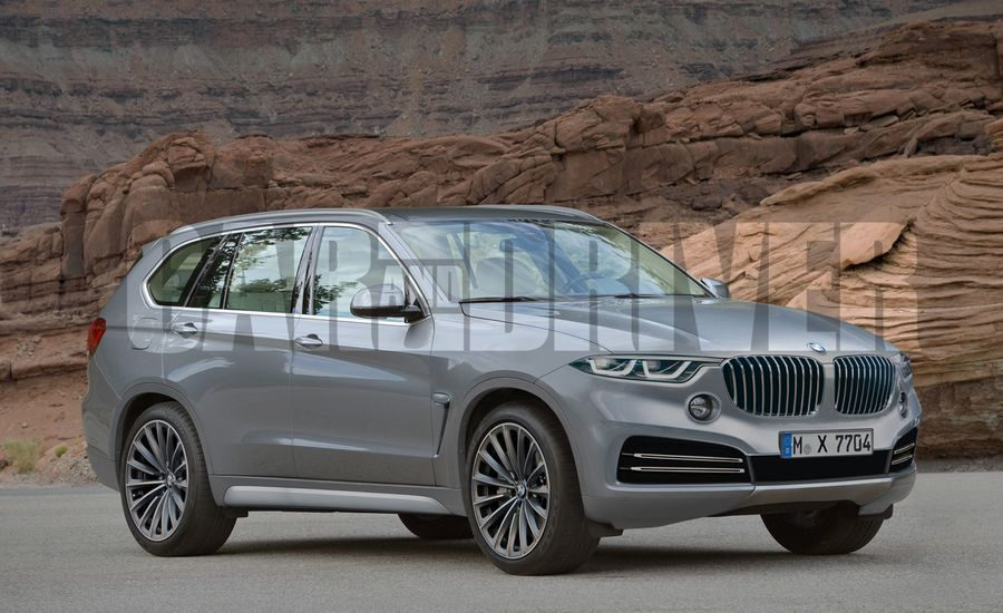 2018 bmw x7 suv rendered detailed news car and driver. Black Bedroom Furniture Sets. Home Design Ideas