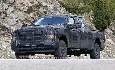 Magnet Applied to Ford F-250 Prototype, Appears to Strike Aluminum