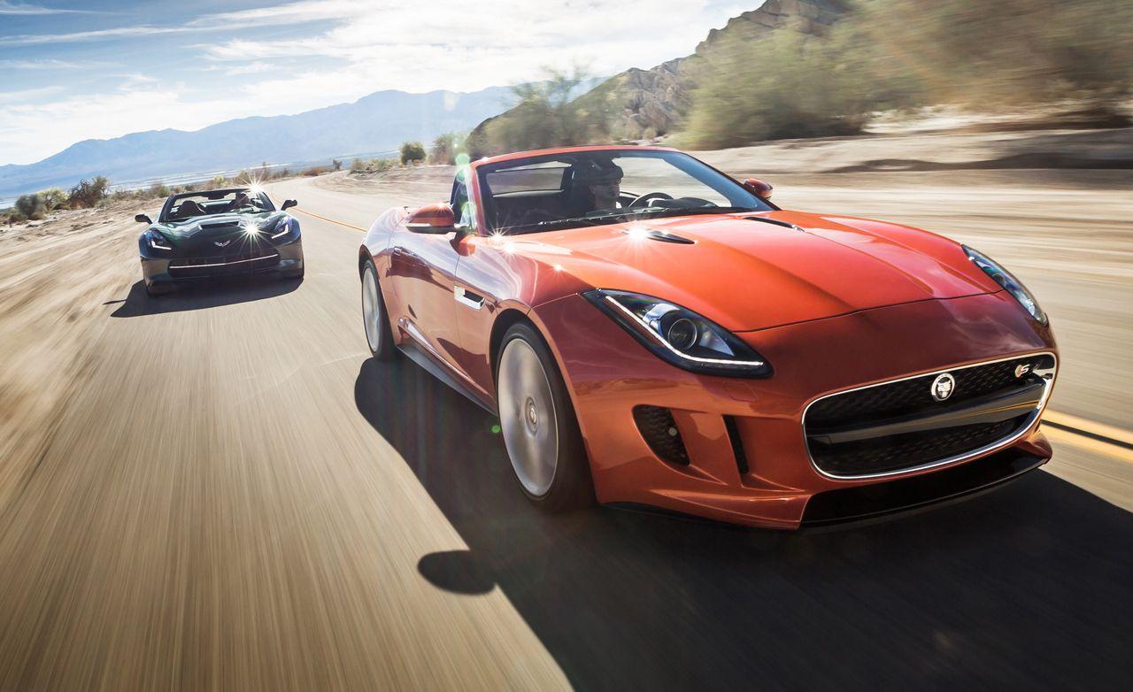 2014 chevrolet corvette stingray convertible vs 2014 jaguar f type v 8 s comparison test car and driver