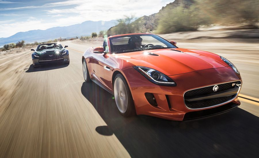 2014 Chevrolet Corvette Stingray Convertible vs. 2014 Jaguar F-type V-8 S