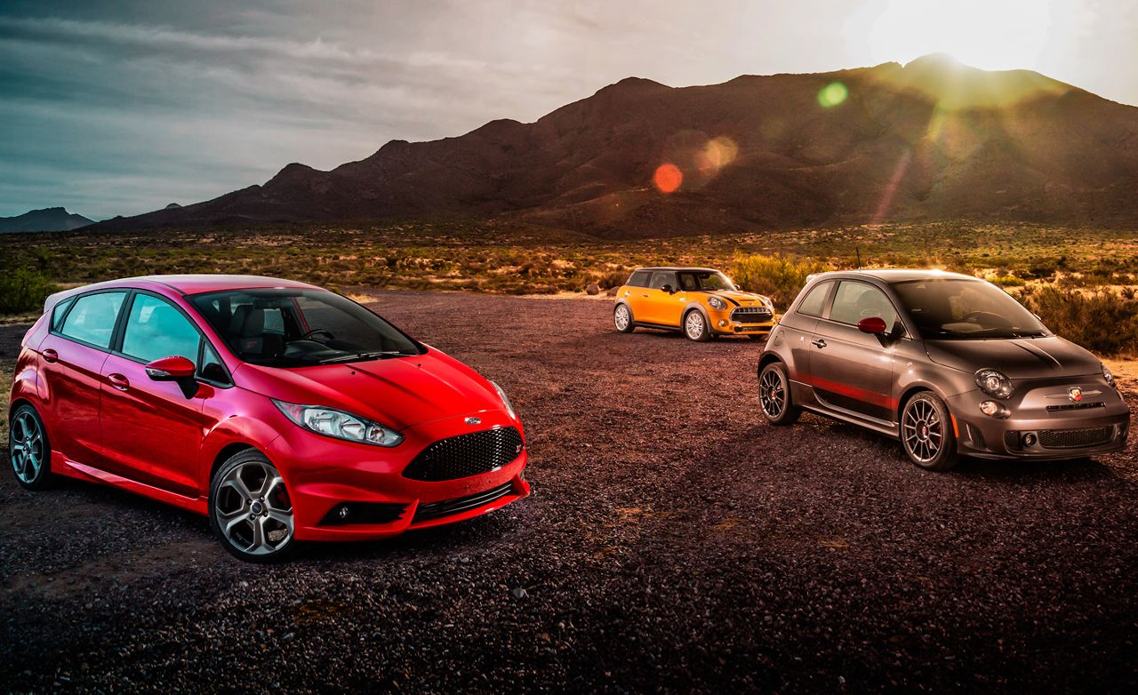 2014 ford fiesta st vs. 2014 fiat 500 abarth, 2014 mini cooper s