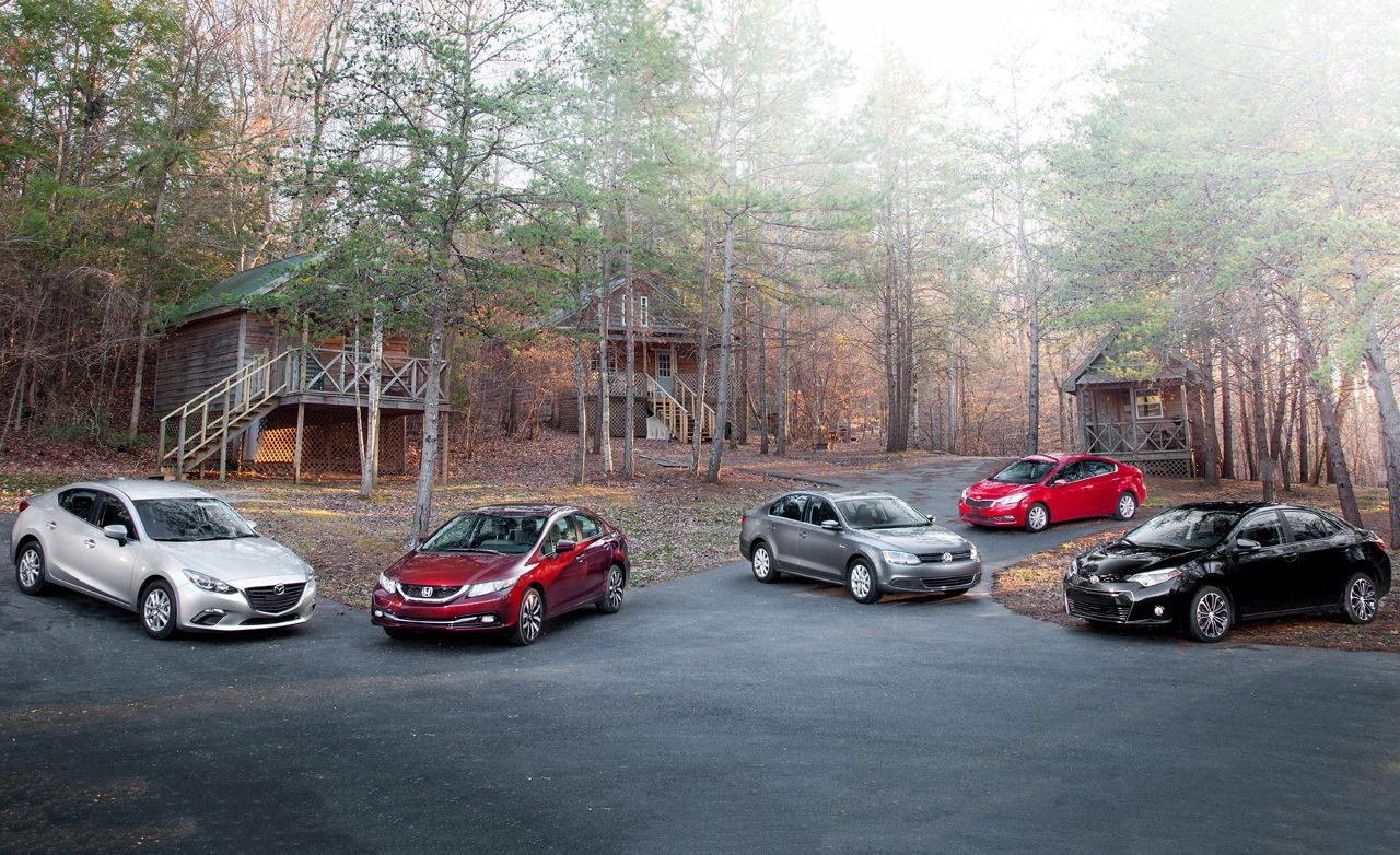 2014 Honda Civic EX-L vs. 2014 Kia Forte EX, 2014 Mazda 3 i Touring, 2014 Toyota Corolla S, 2014 Volkswagen Jetta SE
