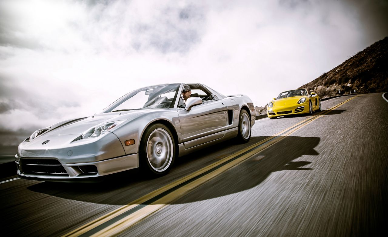 New Vs. Old: 2013 Porsche Boxster Vs. 2005 Acura NSX T
