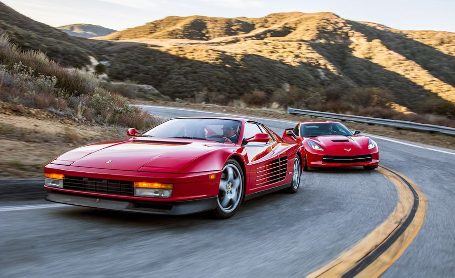 New vs. Old: 2014 Chevrolet Corvette Stingray vs. 1990 Ferrari ...