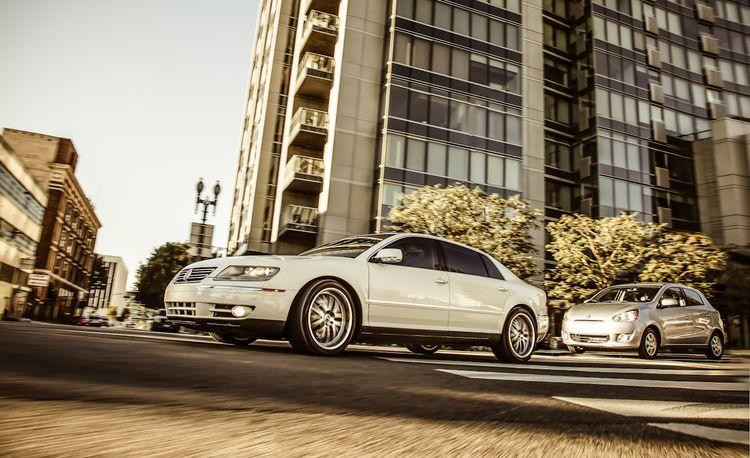 New vs. Old: 2014 Mitsubishi Mirage ES vs. 2005 Volkswagen Phaeton