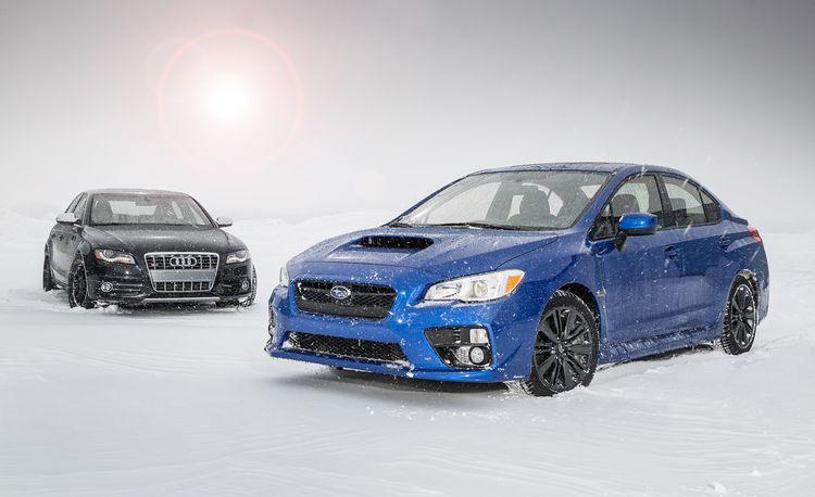 New vs. Old: 2015 Subaru WRX vs. 2010 Audi S4