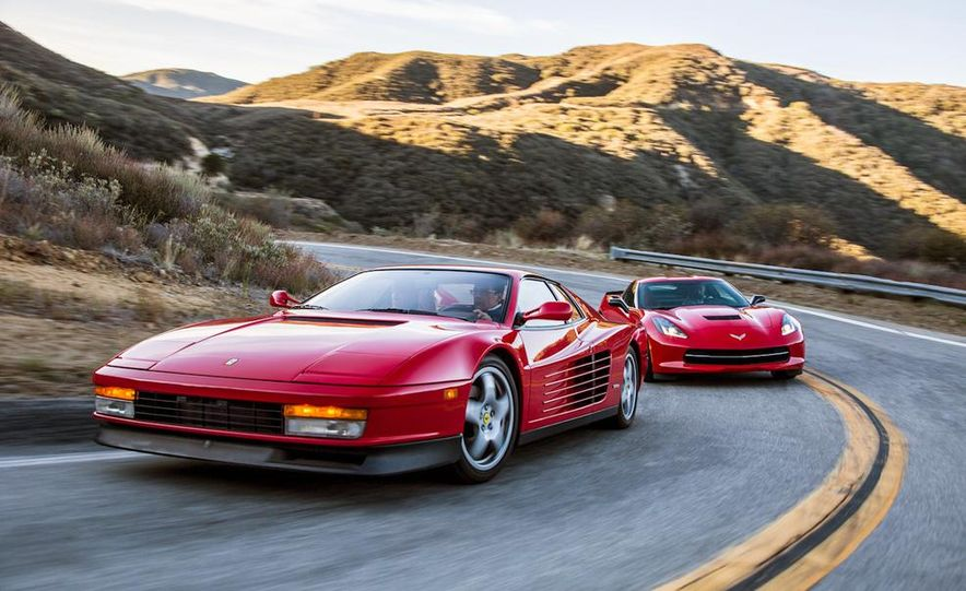 1990 Ferrari Testarossa and 2014 Chevrolet Corvette Stingray - Slide 1