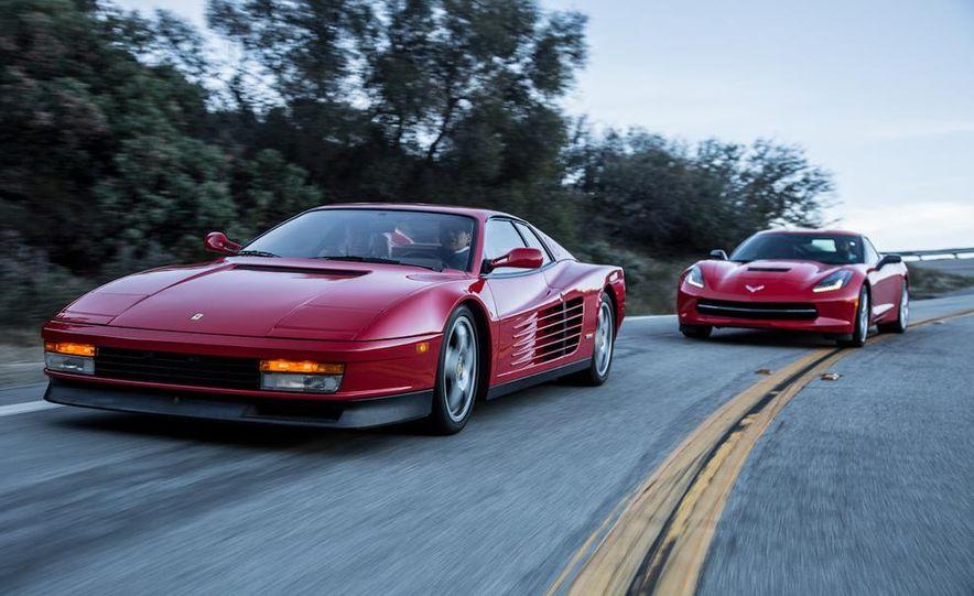1990 Ferrari Testarossa and 2014 Chevrolet Corvette Stingray - Slide 2