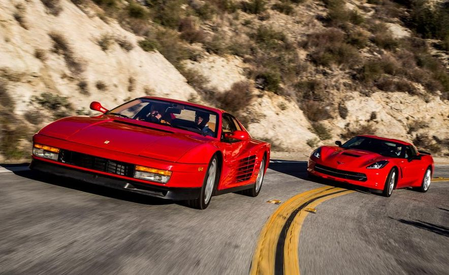 1990 Ferrari Testarossa and 2014 Chevrolet Corvette Stingray - Slide 5
