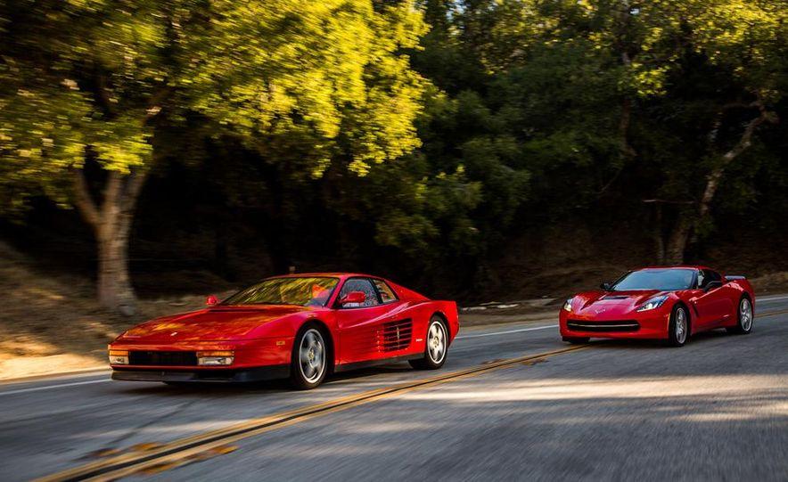 1990 Ferrari Testarossa and 2014 Chevrolet Corvette Stingray - Slide 7