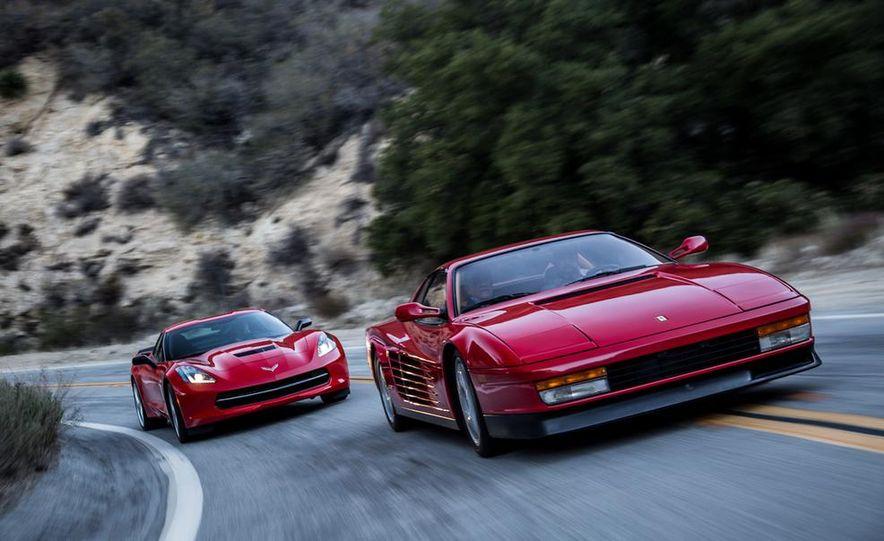 1990 Ferrari Testarossa and 2014 Chevrolet Corvette Stingray - Slide 9