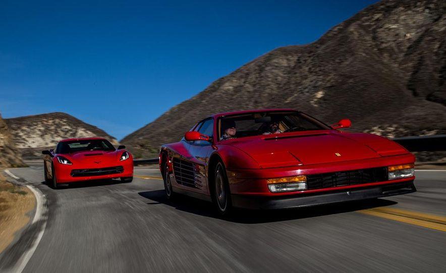 1990 Ferrari Testarossa and 2014 Chevrolet Corvette Stingray - Slide 11