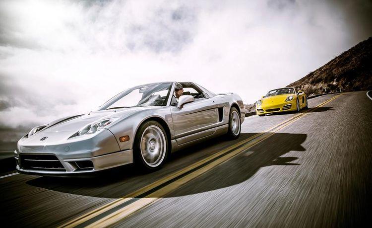New vs. Old: 2013 Porsche Boxster vs. 2005 Acura NSX-T