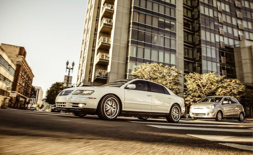 2005 Volkswagen Phaeton and 2014 Mitsubishi Mirage ES - Slide 1