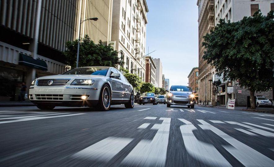2005 Volkswagen Phaeton and 2014 Mitsubishi Mirage ES - Slide 2