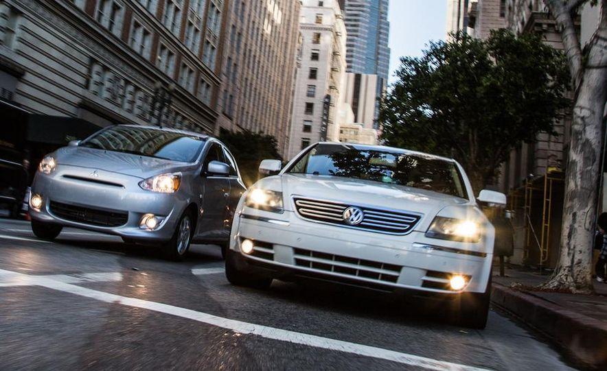 2005 Volkswagen Phaeton and 2014 Mitsubishi Mirage ES - Slide 3