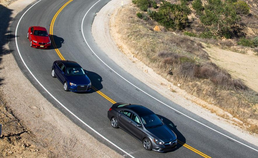 2014 BMW 228i M Sport, 2014 Mercedes-Benz CLA250 4MATIC, and 2015 Audi A3 2.0T Quattro - Slide 3